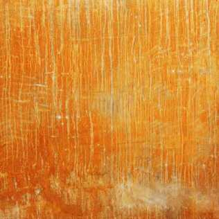 Rust print on silk. 106 x 120cm.
