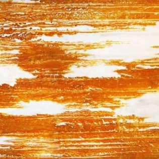 Rust print on silk. 110 x 80cm.