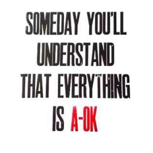 'A-OK'. Letterpress.
