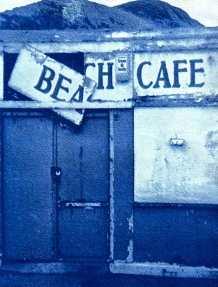 'Beach Café, Saltburn 2016'. Cyanotype. 13 x 18cm.