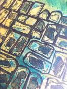 'Paving' Collagraph.
