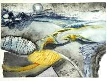 'Harvest' Collagraph. Edition of 5. 76 x 56 cm