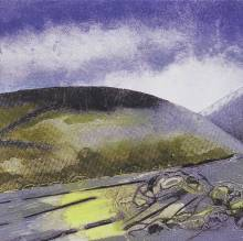 'Howgills, Autumn' Collagraph. Edition of 10. 29 x 33 cm