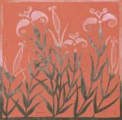 'Tulips' Lino cut. A/P 13 x 13 cm.