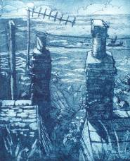 'ComingHome' Etching. Edition of 35. 11 x 3.25 cm.