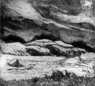 'Loch Ewe To Torridon & Ben Eigh' Etching. Edition of 45. 13.50 x 12 cm.