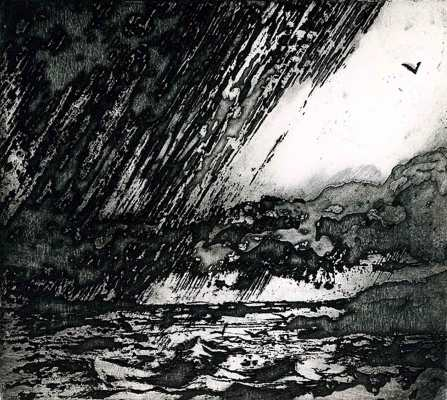 'TheSquall' Sugar lift etching. Edition of 40. 13.50 x 12 cm.