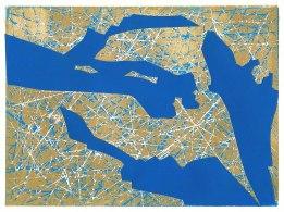 'Blue Map' (2018) Print/Collage. 15 x 20 cm.