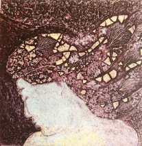 'Earthbound 1'. Viscosity Collagraph 10 x 10 cm